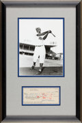 Autographs:Checks, 1963 Jackie Robinson Signed Check, PSA/DNA MINT 9....