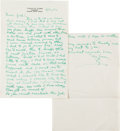 Autographs:Letters, 1951 Ty Cobb Handwritten & Signed Letter to Clyde Milan....