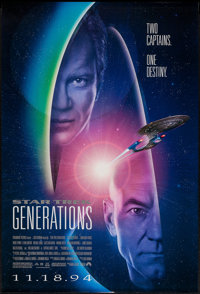"Star Trek: Generations (Paramount, 1994). One Sheet (27"" X 40"") DS Advance. Science Fiction"