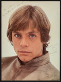 "Movie Posters:Science Fiction, Mark Hamill in The Empire Strikes Back (20th Century Fox, 1980).Autographed Deluxe Portrait Photo (12.5"" X 17""). Science Fi..."