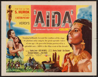 "Aida & Other Lot (IFE Releasing, 1954). Half Sheet (22"" X 28"") & One Sheet (27"" X 41""..."