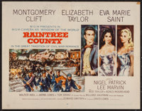 "Raintree County (MGM, 1957). Half Sheet (22"" X 28"") Style A. Romance"
