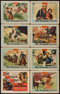 "Fort Massacre (United Artists, 1958). Lobby Card Set of 8 (11"" X 14""). Western. ... (Total: 8 Items)"