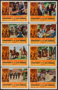 "Gunfight at the O.K. Corral (Paramount, R-1963). Lobby Card Set of 8 (11"" X 14""). Western. ... (Total: 8 Items..."