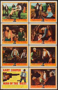 "Man of the West (United Artists, 1958). Lobby Card Set of 8 (11"" X 14""). Western. ... (Total: 8 Items)"