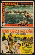 "Movie Posters:Action, Northwest Passage (MGM, 1940). Title Lobby Card and Lobby Card(10.75"" X 14"" and 11"" X 14""). Action.. ... (Total: 2 Items)"