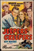 """Movie Posters:Western, Jeepers Creepers (Republic, 1939). One Sheet (27"""" X 41""""). Western.. ..."""