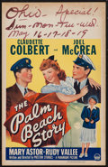 """Movie Posters:Comedy, The Palm Beach Story (Paramount, 1942). Window Card (14"""" X 22""""). Comedy.. ..."""