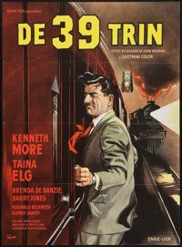 "The 39 Steps (Eagle-Lion, 1960). Danish One Sheet (24.5"" X 33.5""). Thriller"