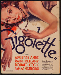 "Gigolette (RKO, 1935). Trimmed Window Card (12"" X 15""). Romance"