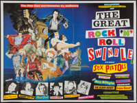 """The Great Rock 'n' Roll Swindle (Virgin Films, 1980). British Quad (30"""" X 40""""). Rock and Roll"""