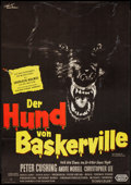 """Movie Posters:Mystery, The Hound of the Baskervilles (United Artists, 1959). German A1(23"""" X 33""""). Mystery.. ..."""