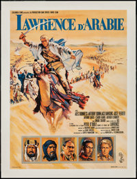 "Lawrence of Arabia (Columbia, 1962). French Petite (15.5"" X 23.5""). Academy Award Winners"