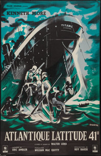 """A Night to Remember (Eclair Journal, 1959). French Affiche (30.5"""" X 47""""). Drama"""