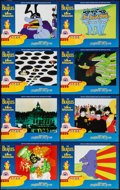 "Movie Posters:Animation, Yellow Submarine (United Artists, R-1999). Lobby Card Set of 8 (11"" X 14""). Animation.. ... (Total: 8 Items)"