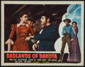"Movie Posters:Western, Badlands of Dakota (Film Classics, R-1948). Autographed Lobby Card (11"" X 14""). Western.. ..."