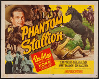 "Phantom Stallion (Republic, 1954). Lobby Card Set of 8 (11"" X 14"") and Half Sheet (22"" X 28"") Style..."