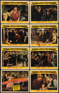 "Ridin' on a Rainbow (Republic, 1941). Lobby Card Set of 8 (11"" X 14""). Western. ... (Total: 8 Items)"