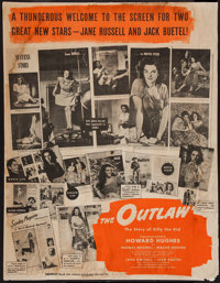 """The Outlaw (20th Century Fox, 1941). Poster (34.5"""" X 44.5"""") DS. Western"""