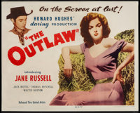 "The Outlaw (United Artists, 1946). Half Sheet (22"" X 28"") Style A. Western"