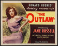 "Movie Posters:Western, The Outlaw (United Artists, 1946). Half Sheet (22"" X 28"") Style B. Western.. ..."