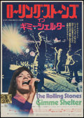 "Movie Posters:Rock and Roll, Gimme Shelter (20th Century Fox, 1971). Japanese B2 (20"" X 28.5"").Rock and Roll.. ..."