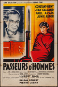 "Movie Posters:War, Passeurs d'Hommes (Cine Selection, 1937). French Affiche (31.5"" X47""). War.. ..."