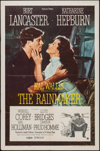 "The Rainmaker (Paramount, 1956). One Sheet (27"" X 41""). Romance"