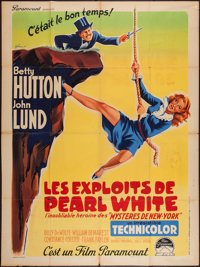 "The Perils of Pauline (Paramount, 1947). French Grande (47"" X 63""). Comedy"