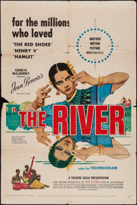 "The River (United Artists, 1951). One Sheet (27"" X 41""). Drama"