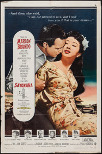 "Sayonara (Warner Brothers, 1957). One Sheet (27"" X 41""). Romance"