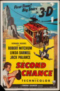 "Movie Posters:Thriller, Second Chance (RKO, 1953). One Sheet (27"" X 41"") 3-D Style. Thriller.. ..."