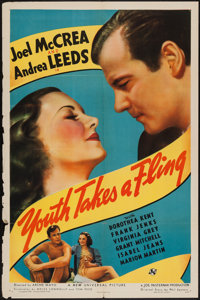 "Youth Takes a Fling (Universal, 1938). One Sheet (27"" X 41""). Comedy"