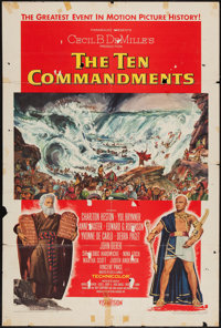 "The Ten Commandments (Paramount, 1956). One Sheet (27"" X 41"") Style A. Drama"