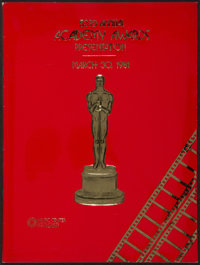 "Academy Awards Programs (AMPAS, 1960s-1980s). Programs (3) (Multiple Pages, 9"" X 12""). Miscellaneous. ... (Tot..."