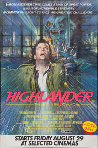 "Highlander (Cannon, 1986). Poster (40"" X 60"") Advance. Fantasy"