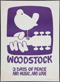 "Movie Posters:Rock and Roll, Woodstock (Poster Prints, Circa 1969). Poster Print (30"" X 42""). Rock and Roll.. ..."