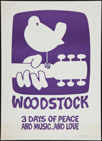 """Woodstock (Poster Prints, Circa 1969). Poster Print (30"""" X 42""""). Rock and Roll"""