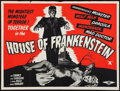 "Movie Posters:Horror, House of Frankenstein (Eros, R-1950s). British Quad (30"" X 40""). Horror.. ..."