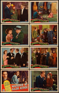 """Movie Posters:Mystery, Murder at Glen Athol (Chesterfield, 1936). Lobby Card Set of 8 (11"""" X 14""""). Mystery.. ... (Total: 8 Items)"""