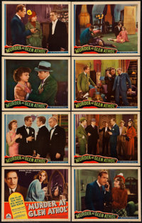 "Murder at Glen Athol (Chesterfield, 1936). Lobby Card Set of 8 (11"" X 14""). Mystery. ... (Total: 8 Items)"