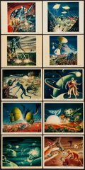 """Movie Posters:Science Fiction, The Mysterians (MGM, 1959). British Color Art Photos (10) (8"""" X 10""""). Science Fiction.. ... (Total: 10 Items)"""