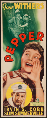 "Pepper (20th Century Fox, 1936). Insert (14"" X 36""). Comedy"