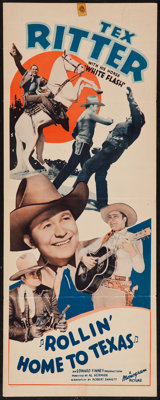 "Rollin' Home to Texas (Monogram, 1940). Insert (14"" X 36""). Western"