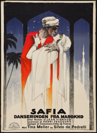 "Karina the Dancer (Metro Goldwyn, 1928). Danish One Sheet (24.5"" X 33.5""). Comedy. Danish Release Title: Safia..."