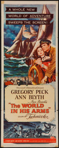 "Movie Posters:Adventure, The World in His Arms (Universal International, 1952). Insert (14""X 36""). Adventure.. ..."