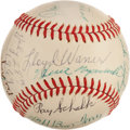 Autographs:Baseballs, 1969 Hall of Famers Multi-Signed Baseball....