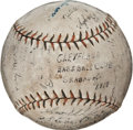 Autographs:Baseballs, 1919 Cleveland Indians Team Signed Baseball with Ray Chapman....