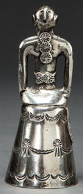 American Indian Art:Jewelry and Silverwork, A NAVAJO SILVER MOTHER-IN-LAW'S BELL. c. 1940...