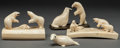 American Indian Art:Wood Sculpture, FOUR ESKIMO CARVED WALRUS IVORY ITEMS. c. 1950... (Total: 4 Items)